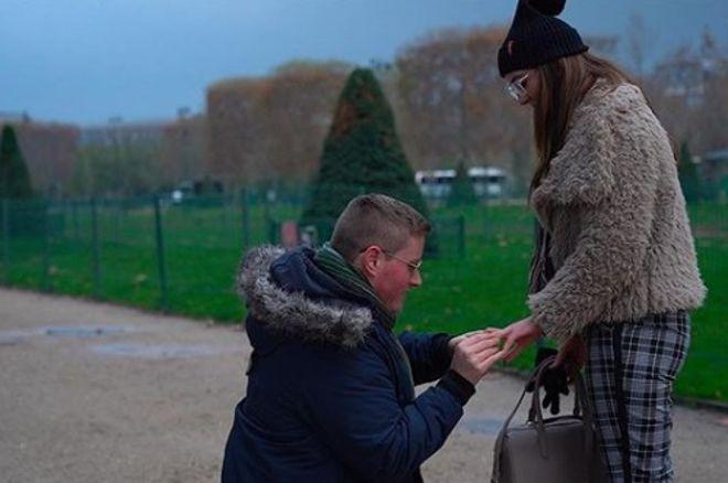 Джейми Стэплс сделал предложение своей девушке
