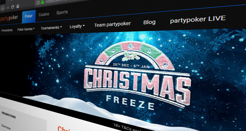 partypoker Christmas Freeze