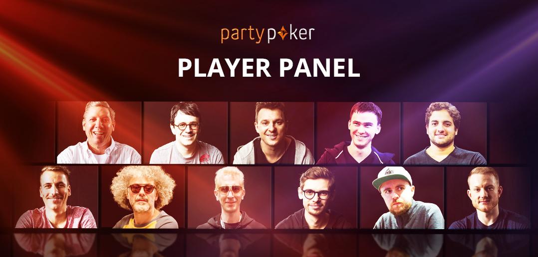 partypoker - Группа игроков, Player Panel